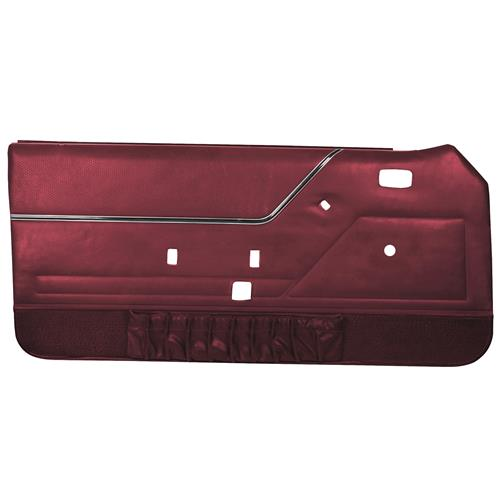 TMI Mustang Deluxe Door Panels for Hardtop w/ Manual Windows Canyon Red (84-86)