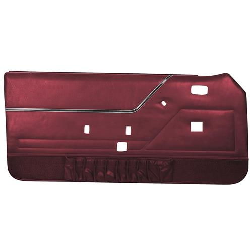 TMI Mustang Deluxe Door Panels for Convertible W/Power Windows Medium Red  (83-84)