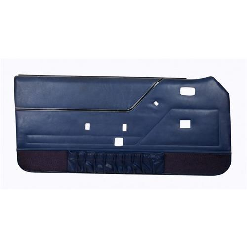 Mustang Deluxe Door Panels for Convertible W/Power Windows Academy Blue (83-84) 10-74104-970-8082