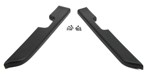 Mustang Door Armrest Pad Kit, Power Windows Black (87-93)