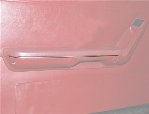 Mustang Door Arm Rest Chrome Trim Strip, Pair (87-93)