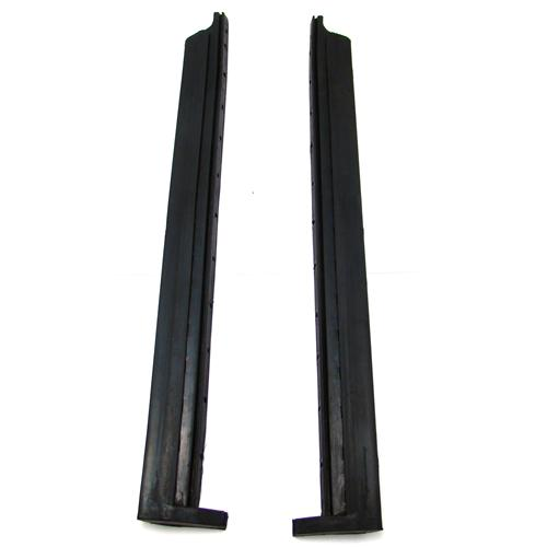 Mustang Convertible Quarter Window Vertical Weatherstrip  Pair (83-93) F0ZZ-7630256  PAIR