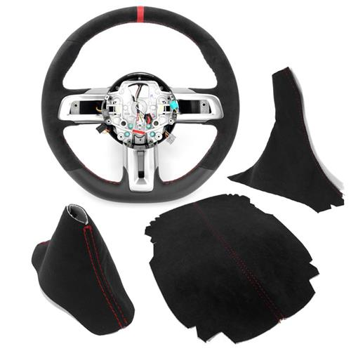 Mustang GT350R Interior Conversion Kit - Automatic  - Black w/ Red Stitching (15-17)