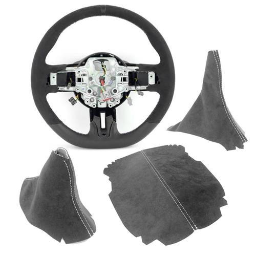 Mustang GT350 Interior Conversion Kit - Manual  - Charcoal w/ Silver Stitching (15-17)