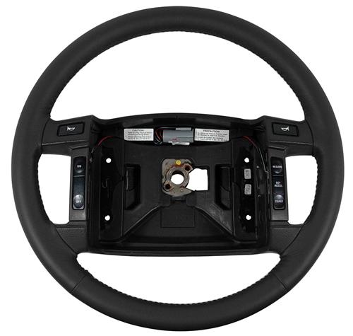 1990-93 MUSTANG BLACK LEATHER STEERING WHEEL FOR CRUISE CONTROL