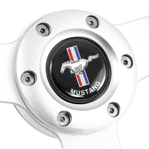 Mustang Steering Wheel - Off Road Brushed Aluminum (84-04)