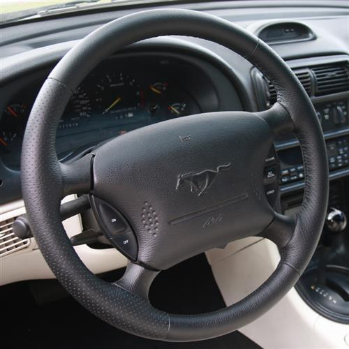 Mustang FR500 Style Steering Wheel - Black (94-98) - Mustang FR500 Style Steering Wheel - Black (94-98)
