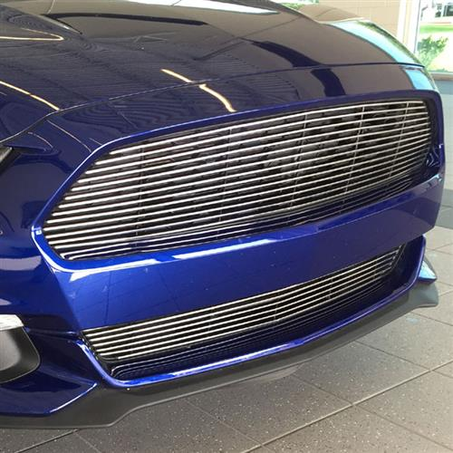Mustang Upper Billet Grille - Polished (15-17)