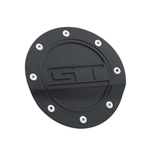 Mustang Comp Series Fuel Door w/ GT Logo  - Matte Black (15-17) FR3Z-6640526-GA