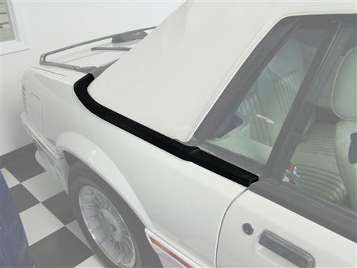 Mustang Upper Well Molding - RH (87-93) Convertible E7ZZ-7642318