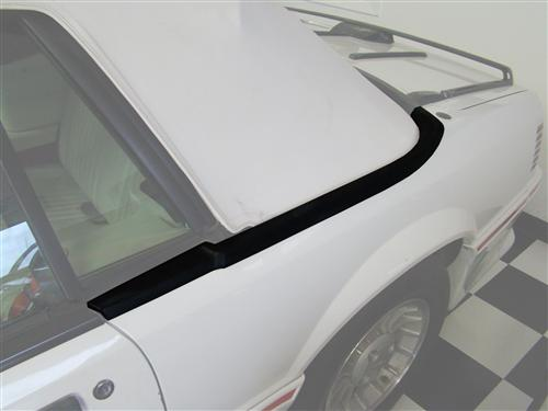 Mustang Upper Well Molding - LH (87-93) Convertible E7ZZ-7642319