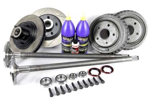 1987-93 Mustang 5 Lug Conversion Kit with Slotted Rotors & 31 Spline Axles