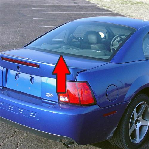 Mustang Rear Lower Glass Molding (94-04) F4ZZ-6342404