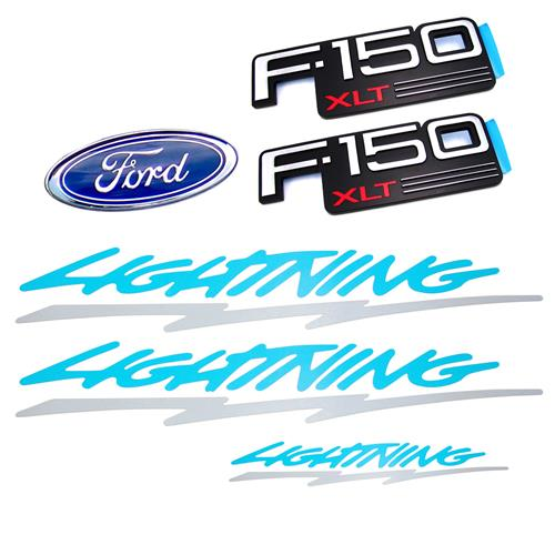 1993-1995 FORD LIGHTNING EXTERIOR EMBLEM & DECAL KIT