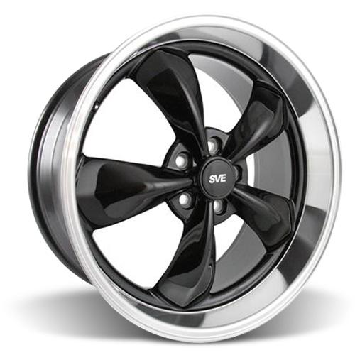 Mustang Bullitt Wheel - 20x10 Black w/ Mirror Lip (05-17)