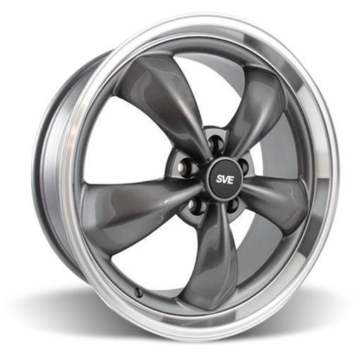 Mustang Bullitt Wheel - 20x8.5 Anthracite w/ Mirror Lip (05-16)