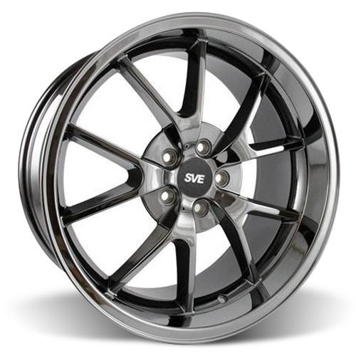Mustang FR500 Wheel - 20x10 Black Chrome (05-15)