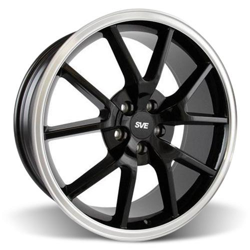 Mustang FR500 Wheel - 20x8.5 Black w/ Mirror Lip (05-16)