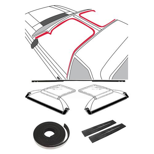Mustang T-Top 9 Piece Weatherstrip Kit, Before 10/83 (81-84) - Mustang T-Top 9 Piece Weatherstrip Kit, Before 10/83 (81-84)