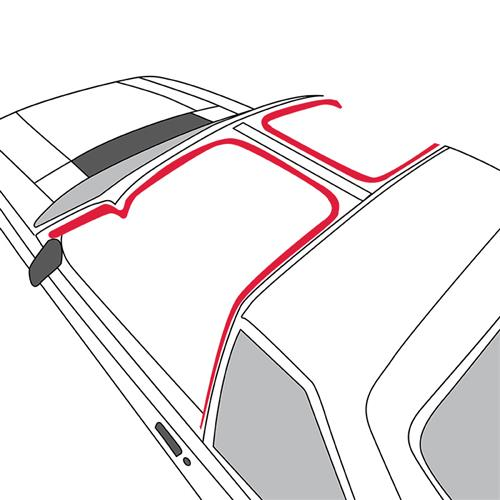 Mustang T-Top To Body Weatherstrip, LH From 10/83 (84-86)