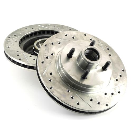 Mustang C-Tek Front Brake Rotors  - Drilled & Slotted (87-93) 5.0