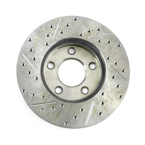 Mustang C-Tek Front Brake Rotors  - Drilled & Slotted (94-04) GT & V6