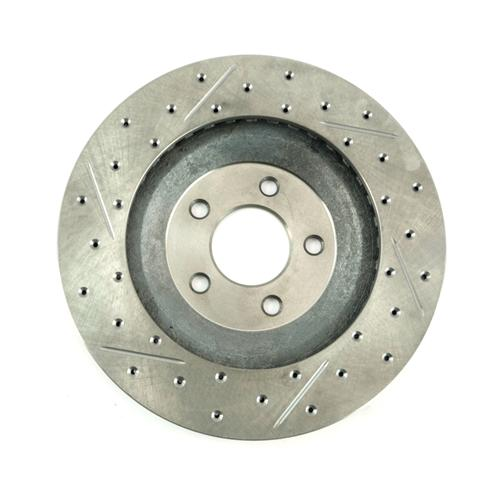 Mustang Drilled & Slotted Front Brake Rotors, Pair (94-04) Cobra-Bullitt-Mach 1
