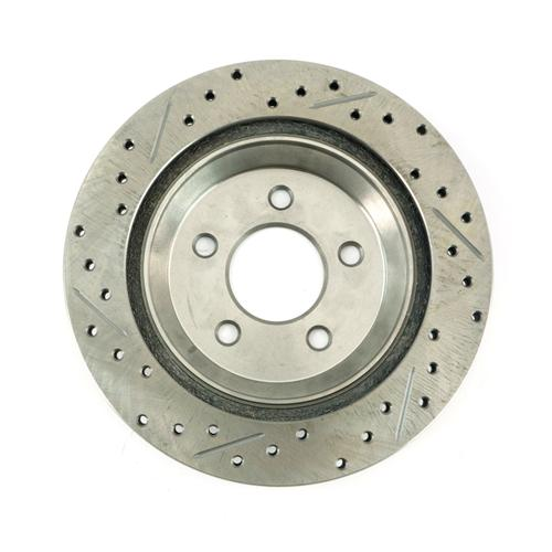 Mustang Drilled & Slotted Rear Brake Rotors, Pair (94-04) Cobra-Bullitt-Mach 1