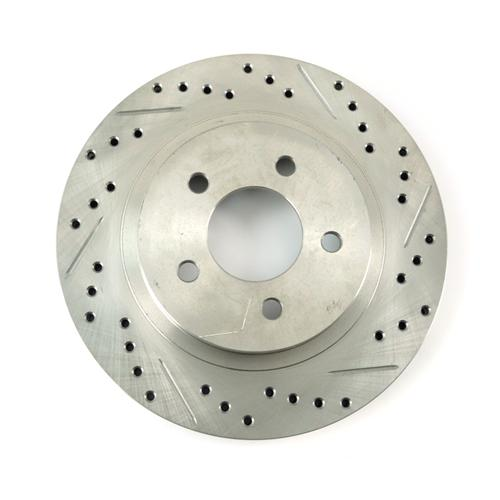 Mustang Drilled & Slotted Rear Brake Rotors (05-14)
