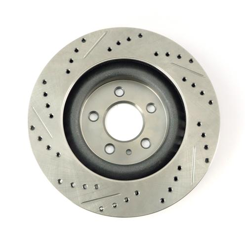 Mustang Drilled & Slotted Front Brake Rotors (11-14)