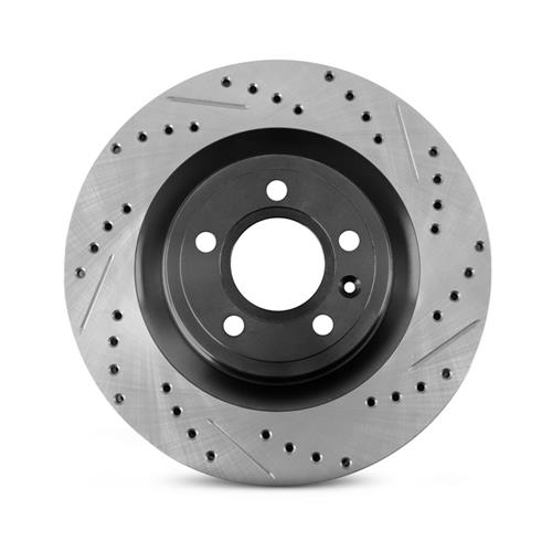 Mustang Drilled & Slotted Rear Brake Rotors  - V6/EcoBoost (15-17)