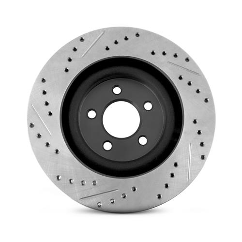 Mustang Drilled & Slotted Front Brake Rotors  - GT/EcoBoost PP (15-17)