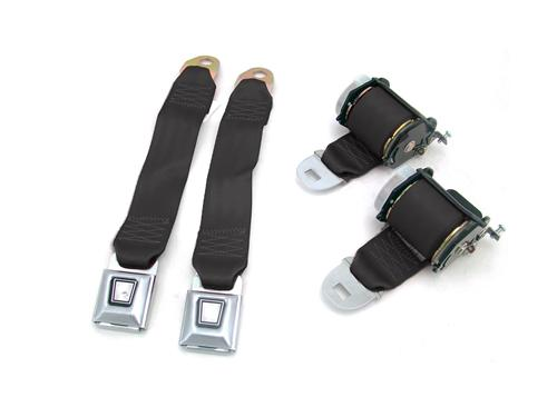 Mustang Rear Seat Belt Set  - Black (79-89)