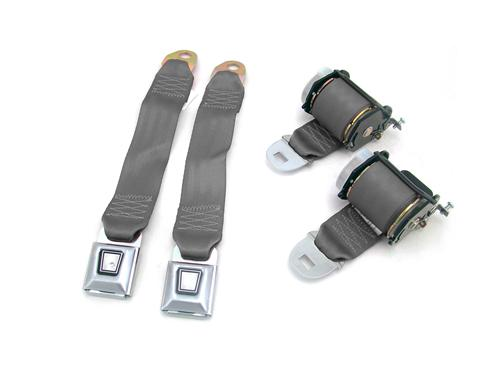 Mustang Rear Seat Belt Set Dark Gray/SVO Gray (84-86)