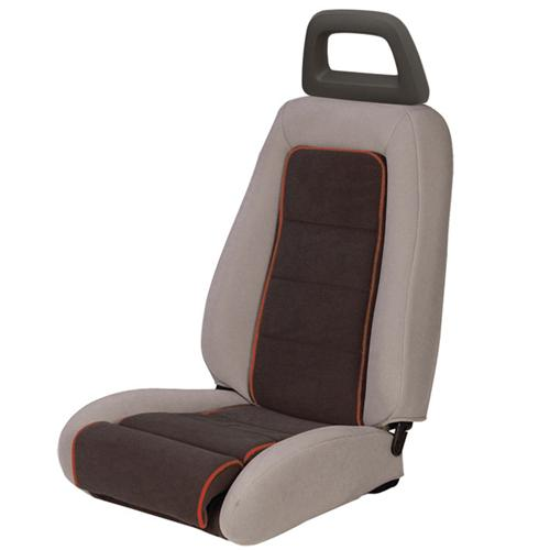 Mustang GT Cloth Seat Upholstery Gray w/ Red Welt (85-86) GT Convertible