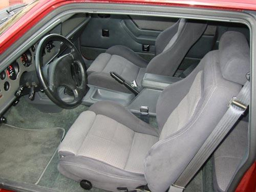 Mustang Cloth Seat Upholstery Charcoal Grey (1984) SVO 43-75524-612-562D