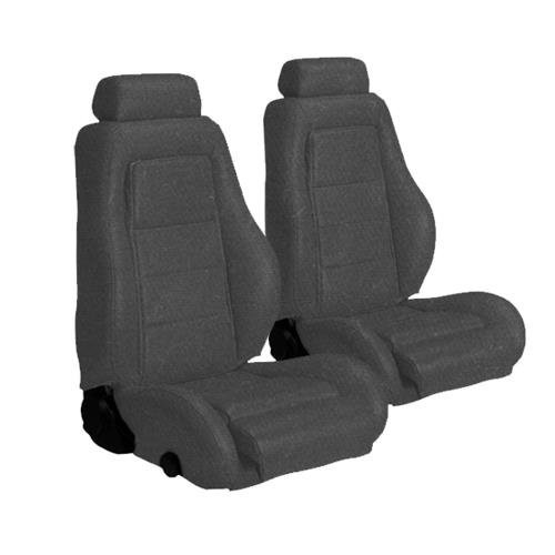 Mustang Cloth Seat Upholstery Dark Grey (85-86) SVO
