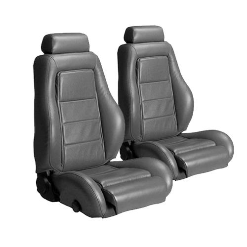 Mustang Leather Seat Upholstery Dark Gray (85-86) SVO