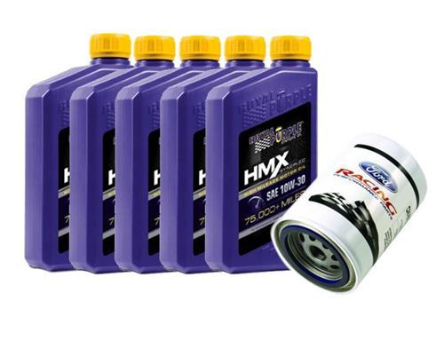 79-95 Mustang Royal Purple HMX 10w30 High Mileage Oil Change Kit for 5.0L and 2.3L - 79-95 Mustang Royal Purple HMX 10w30 High Mileage Oil Change Kit for 5.0L and 2.3L