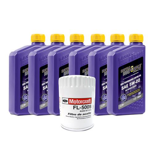 Mustang Royal Purple 5W-20 Oil Change Kit (01-09) V6 3.8 4.0
