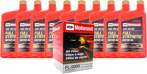 14 Mustang 5 0 Oil Capacity >> Motorcraft Mustang Oil Change Kit 5w 50 12 14 5 0l