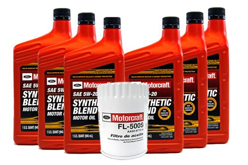 Motorcraft Mustang Oil Change Kit (2015) V6 3.7