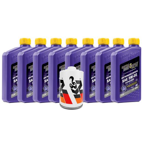 Mustang Royal Purple 5W-20 Oil & K&N Oil Filter (15-17) 5.0