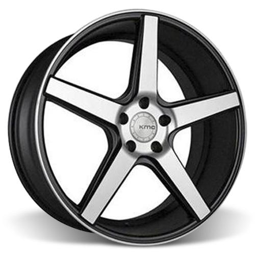 KMC Mustang 685 District Wheel - 20x8.5 Black w/ Machined Face (05-15)