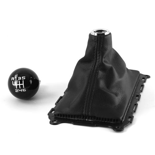 Mustang Boss 302 Shift Knob & Leather Shift Boot Kit (11-14)