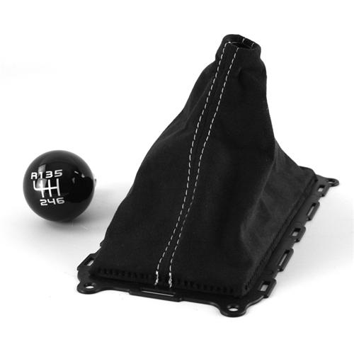 Mustang Boss 302 Shift Knob & Alcantara Shift Boot Kit (11-14)