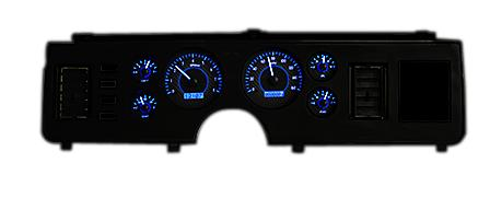 Picture of Mustang VHX Gauge Cluster Carbon Face/Blue Backlighting (79-86)