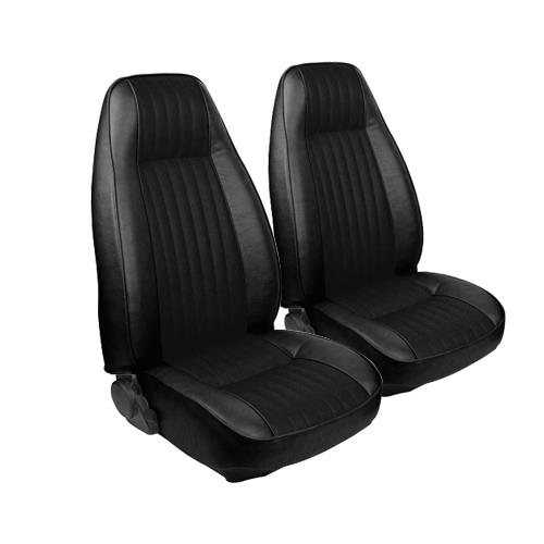 TMI Mustang Seat Upholstery Black Cloth/Vinyl (81-82) Coupe High Back