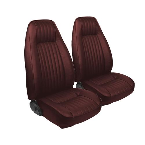 TMI Mustang Seat Upholstery Red Vinyl (81-83) Coupe High Back
