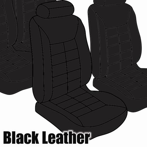 TMI Mustang Seat Upholstery Black Leather (81-83) Coupe Low Back 43-73224-L958